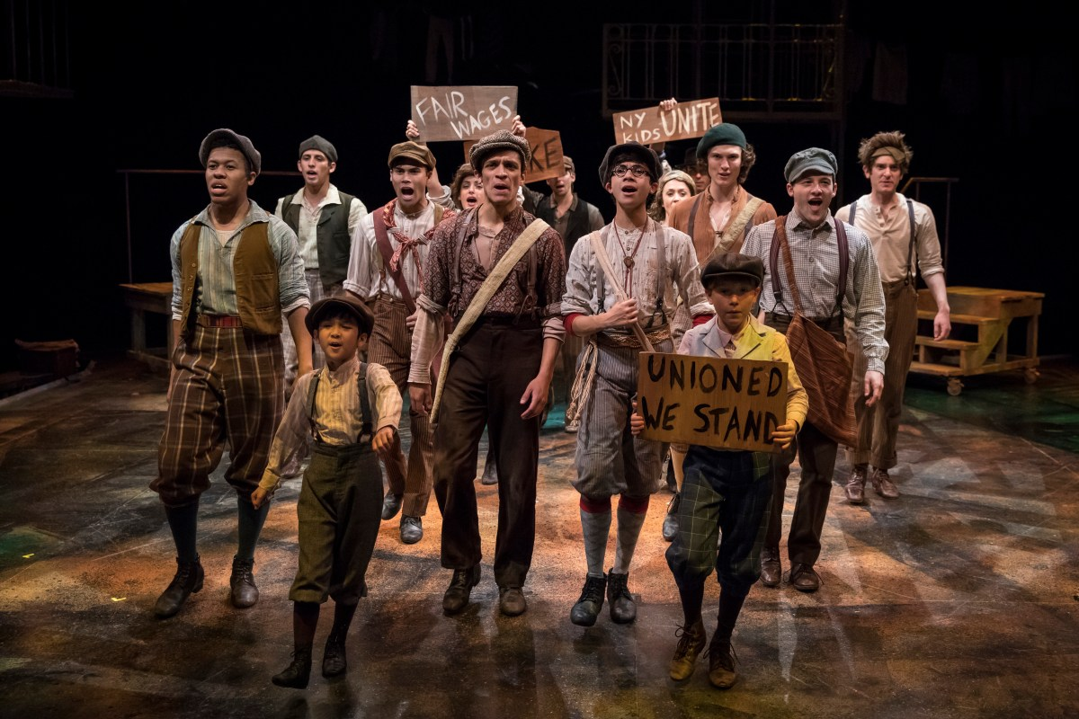 Carrying the Banner: A Review of Newsies: The Broadway Musical at Marriott Theatre